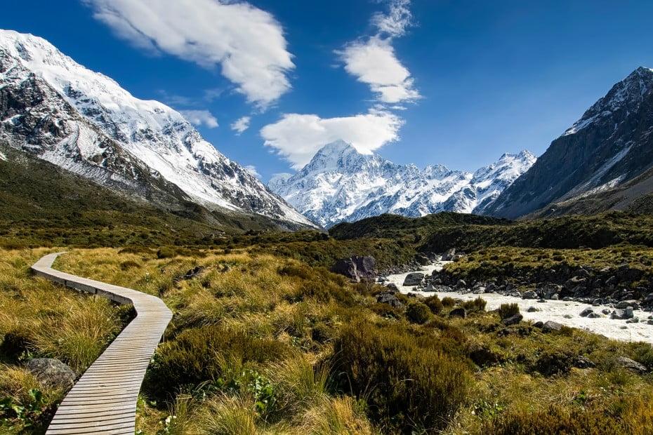 ニュージーランドでトレッキング - フッカーバレー