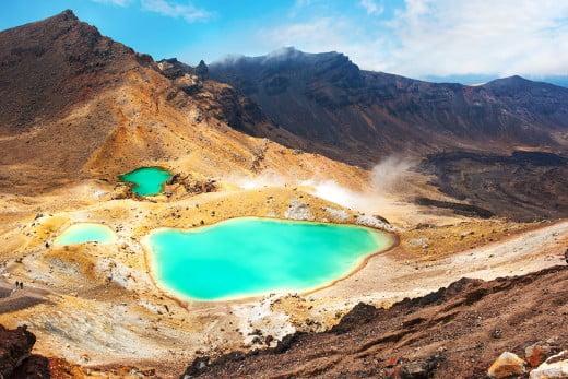 ニュージーランドでトレッキング - トンガリロ