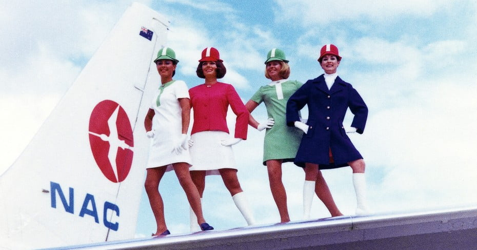 "NAC got new ""Lollipop"" uniforms and later merged with Air New Zealand."