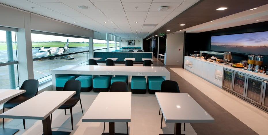Air New Zealand Regional Lounge at Hamilton Airport.