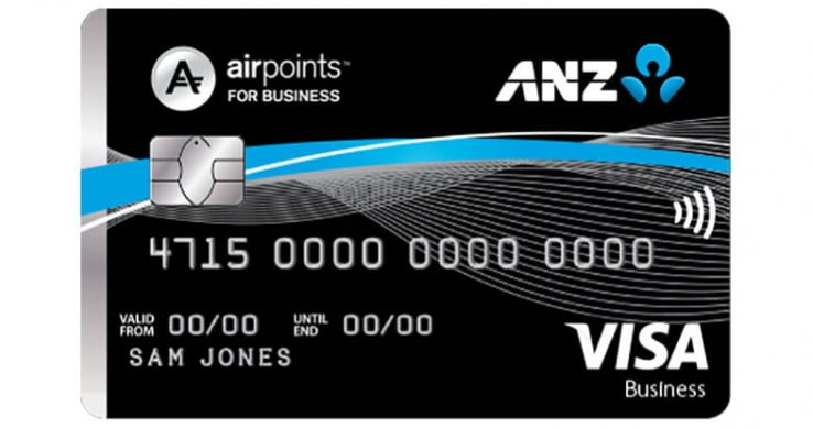 ANZ Visa Business card.