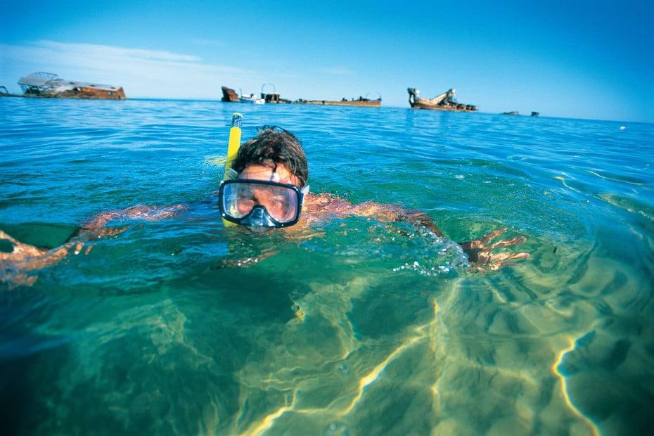 Moreton Bay snorkelling, Brisbane, AU.