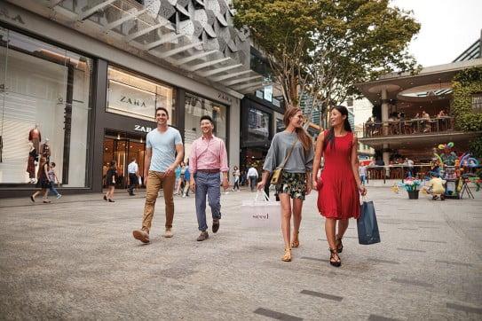Street mall shopping, Brisbane, Australia.