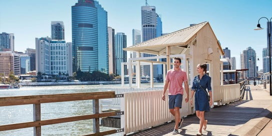 Stroll along river, Brisbane, Australia.