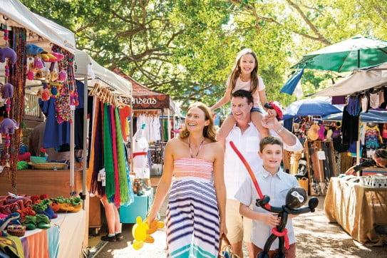 Market with the family, Sunshine Coast, Australia.
