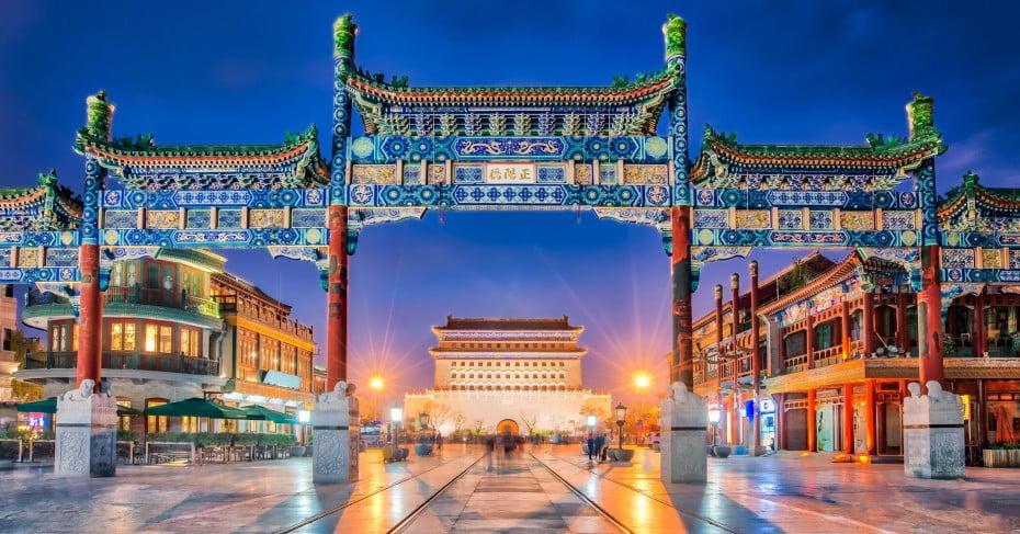 Qianmen Street, Beijing, China.