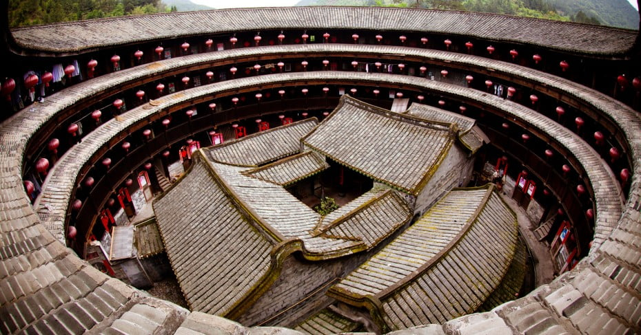 Traditional Hakka Tulou homes in Yongding