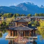 Yunnan Chinese style garden, Li Jiang, China.