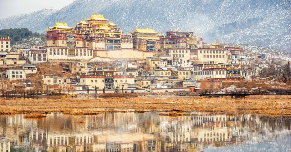 Songzanlin temple in Yunnan, China