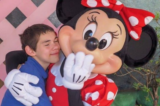 Koru care Christchurch branch - boy with Minnie Mouse
