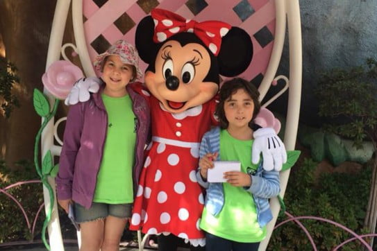 Koru care Northland branch - girls with Minnie Mouse at Disneyland