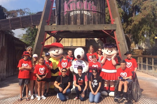 Koru care Southland branch - group at Knotts Berry farm