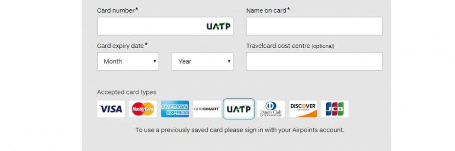 UATP payment.