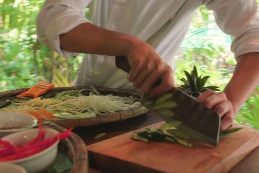 Cooking class, Vietnam.