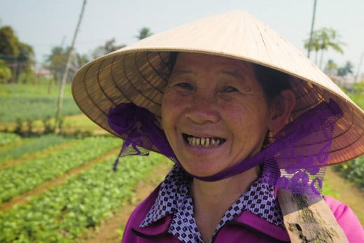 Smiling lady, Vietnam.