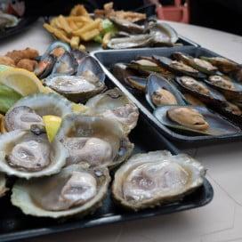 Bluff Oyster Festival Food.