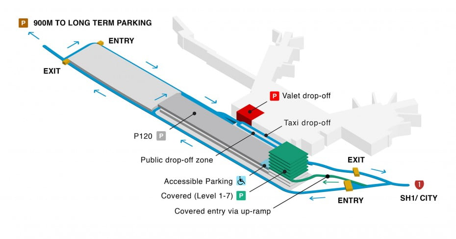 Wellington parking map, level 1.