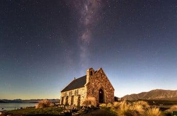 New Zealand - Milky Way at Church of the Good Shepherd, Lake Tekapo