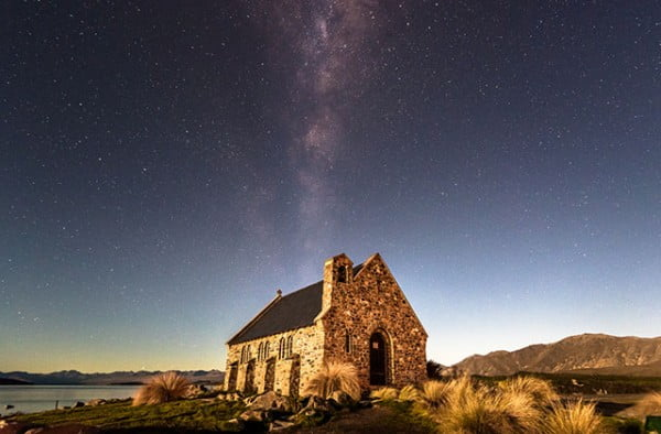 New Zealand - Milky Way at Church of the Good Shepherd, Lake Tekapo