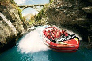Jet boating adventure at Queenstown, New Zealand
