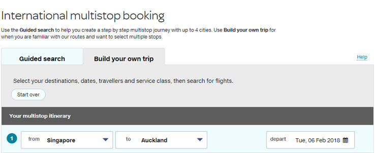 How to do a multistop booking, Air New Zealand