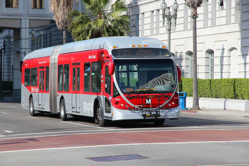 Red Metro Bus, Los Angeles